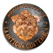 La Antigua Guatemala&#039;s Official Emblem (photo: Rudy Girn)