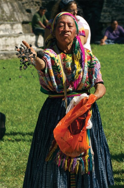 Ritual in Motion - The next major event in the Maya sacred calendar is the Uaxactún Equinox. Story on page 54. (photo: Thor Janson)
